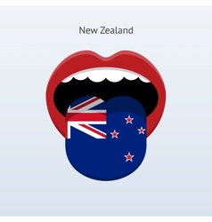 New zealand language abstract human tongue vector