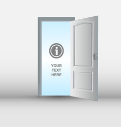 Open white door template vector
