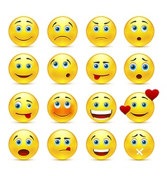 Collection of smilies with different emotions vector