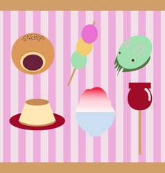 Japanese traditional sweet food vector