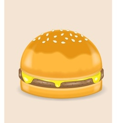 Cheese poke hamburger vector