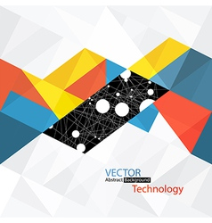 Abstract technology background with connections vector
