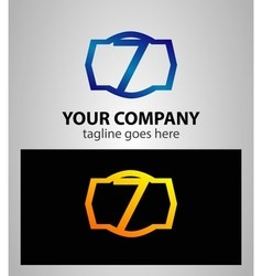 Number 7 logo logotype design vector