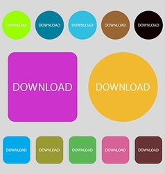 Download icon upload button load symbol 12 colored vector