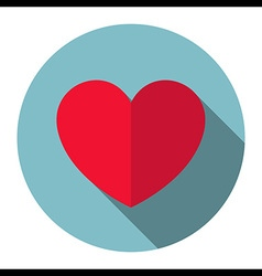 Heart icon flat design vector