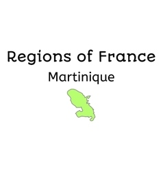 France administrative map of martinique vector