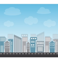 Large city in the afternoon vector