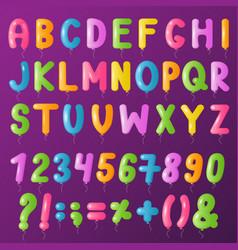 balloons text alphabet symbols letters big vector image