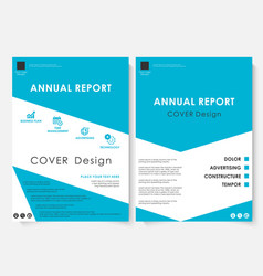 Blue cover design template brochure vector