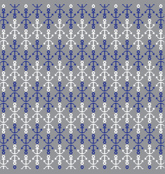 Blue gray white anchor pattern vector