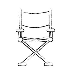 Blurred silhouette image cinema director chair vector