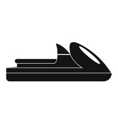 boat icon simple style vector image