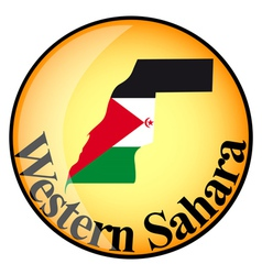 Button western sahara vector