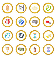 Clock and watch icon circle vector