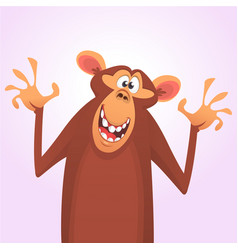 Cool cartoon monkey character icon vector