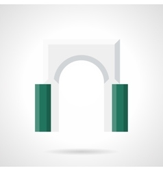Decorative archway flat color icon vector