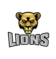 Female lion head logo vector