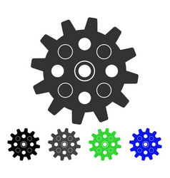 Gearwheel flat icon vector