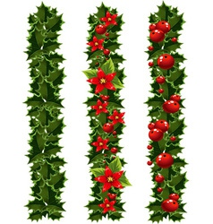 Green christmas garlands vector