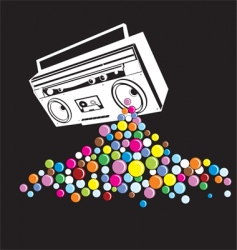 music pop vector image