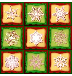 patchwork Christmas vector image