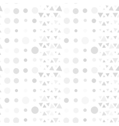 Seamless pattern of circles and triangles gray on vector image