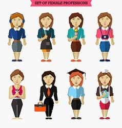 Set of female professions meteorologist vector