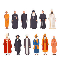 set of religion people different characters vector image vector image