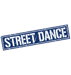 Street dance square grunge stamp vector