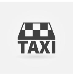 Taxi icon or logo vector image