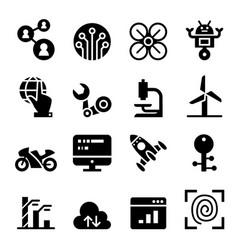 Technology icon set vector