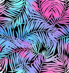 Tropical palms seamless pattern in colours vector image