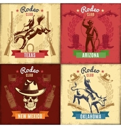 Vintage wild west emblems vector