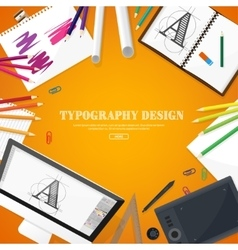 Graphic web design drawing and painting vector