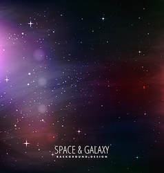 Space and galaxy background vector