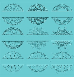 Beautiful vintage set form vector