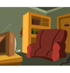 Tv room vector image