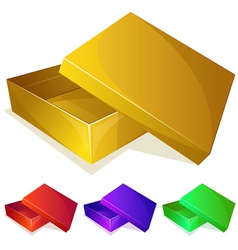 Empty yellow box vector