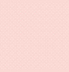 polka dot seamless pattern white dots on pink vector image
