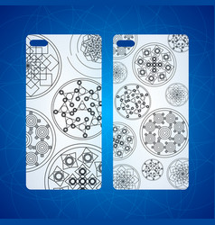 Indian floral paisley medallion pattern ethnic vector