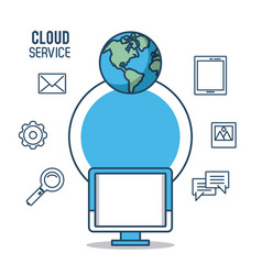 Cloud computing service vector