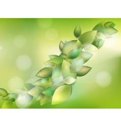 Spring or summer season abstract nature eps 10 vector
