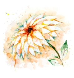 Watercolor background with flower vector image