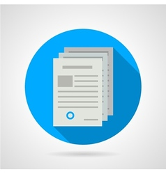 Flat icon for document vector