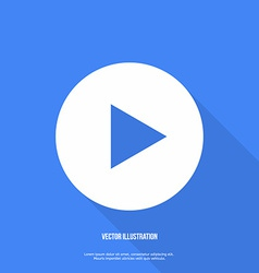 Play button web icon flat design vector