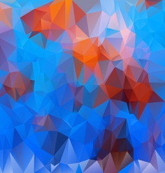 Undersea life blue orange polygonal triangular vector