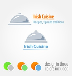 Logo with cloche platter vector
