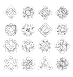 Magic geometry signs vector