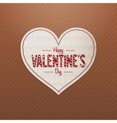 Valentines day realistic white heart greeting card vector