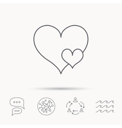 Love hearts icon lovers sign vector